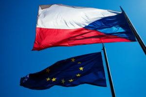 Флаги Чехии и Евросоюза