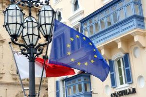 Флаг ЕС в Мальте