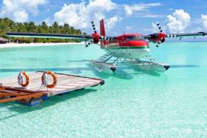 Самолет на Мальдивах