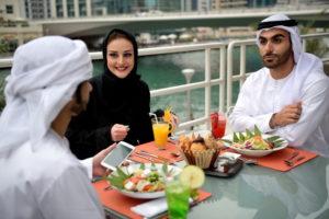 Мусульмане в ресторане