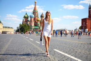 Девушка на Красной площади