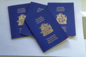 Исландские паспорта