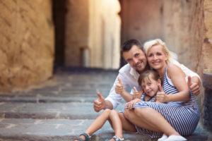 Семья в Греции