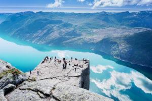 Скала в Норвегии