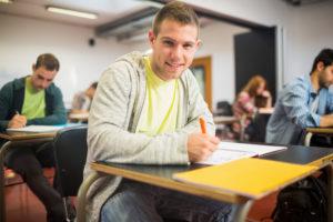 Студент на экзамене