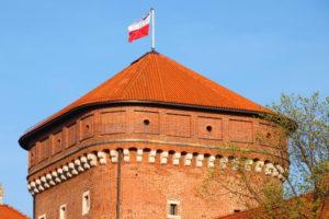 Башня с польским флагом