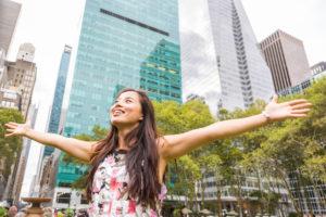 Девушка в Нью-Йорке