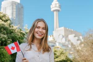Девушка в Канаде