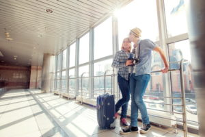 Пара в аэропорту