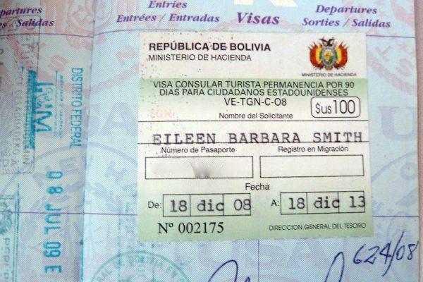 Виза в Боливию