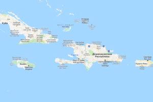 Гаити на карте