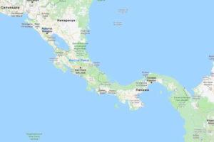 Карта Коста Рики