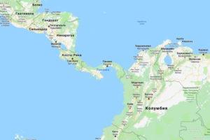 Карта Панамы