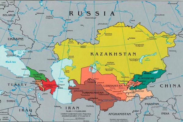 Азия на карте
