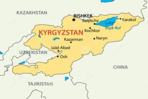 Киргизская республика на карте